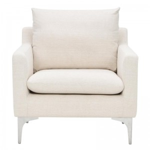 Anders Sand Color Fabric Occasional Chair