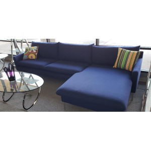 Anders Navy Blue Reversible Sectional