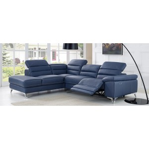 Power Motion Full Leather Sectional