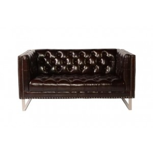 Bordeaux Loveseat in Cranberry Vintage Leather