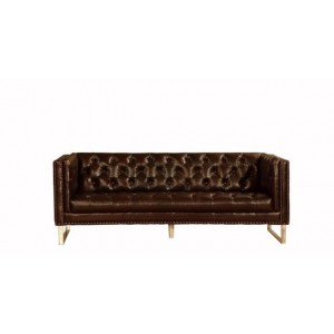 Bordeaux Sofa in Cranberry Vintage Leather