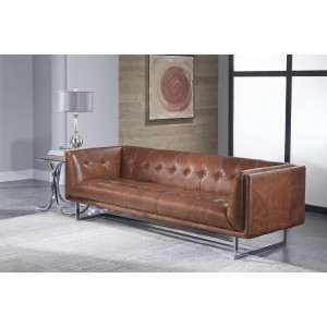 Sofa in Vintage Cognac Leather
