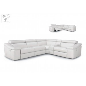 Power Incliner Leather Sectional
