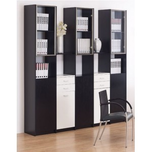 Black and White Bookcase