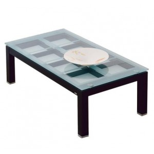 Rectangular Coffee Table With Decorative Storage