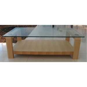 Wood with Glass Coffee Table