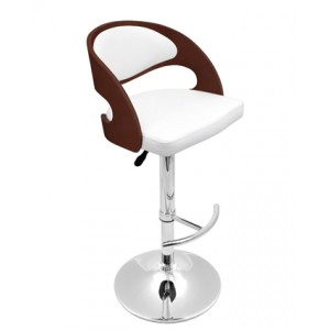 Wood Back Hydraulic Bar Stool