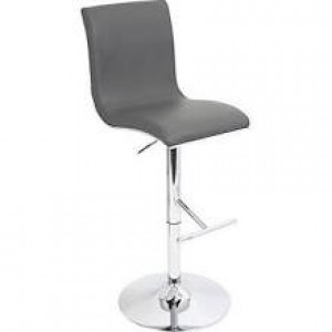 Gray Adjustable Bar Stool