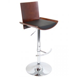 Geometric Scoop Bar Stool