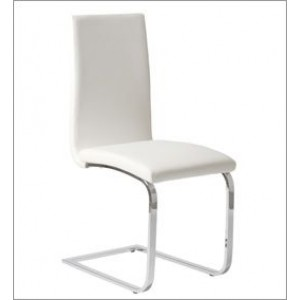 Curved Chrome Dining Chair