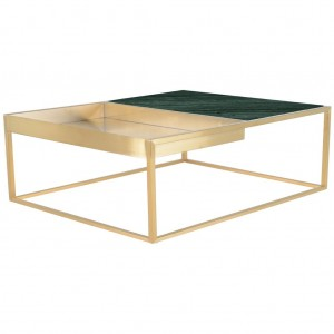 Corbett Green Marble Coffee Table