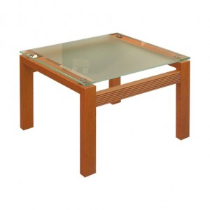 Frosted Glass Side Table