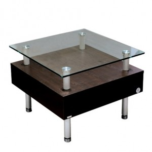 Elevated Glass Side Table