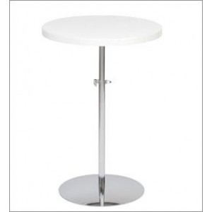 Round Adjustable Side Table