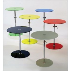 Adjustable Glass Side Table