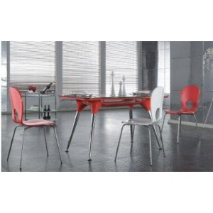Dining Table with Chrome Legs