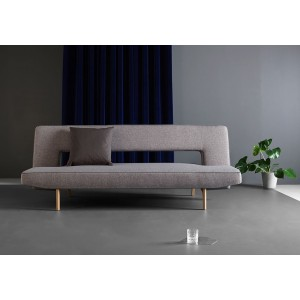 Sofa Bed in Brown Fabric